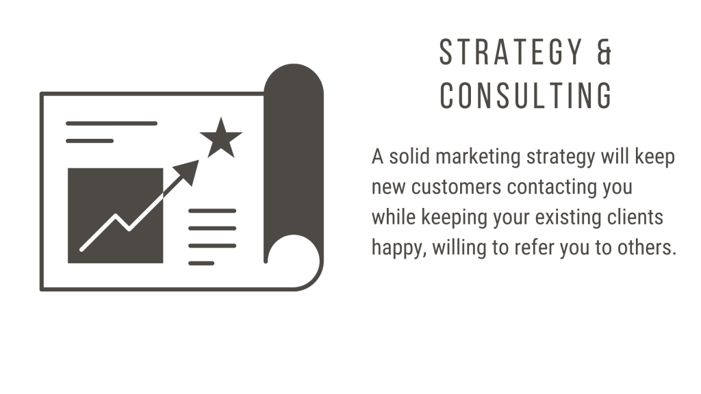 A solid marketing strategy will keep new customers contacting you while keeping your existing clients happy, willing to refer you to others.
